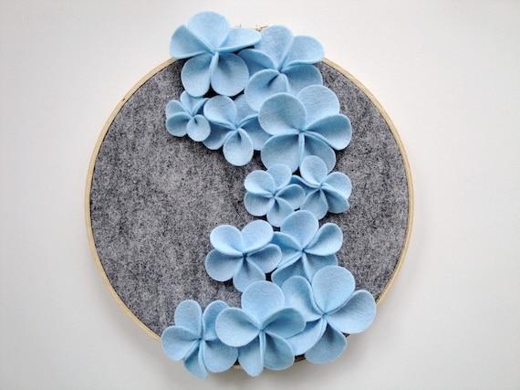 Blue Cascading Flower Wall Art