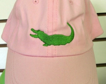 Preppy Gator Embroidered Hat