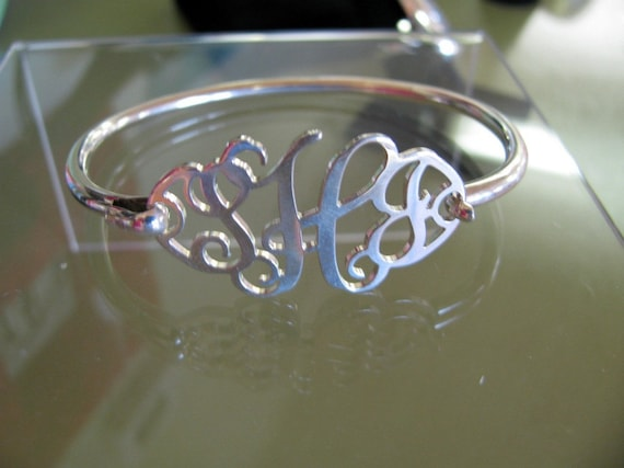 Cut-Out Monogram Bracelet