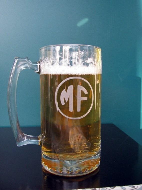 Set of 6 Personalized Beer Mug