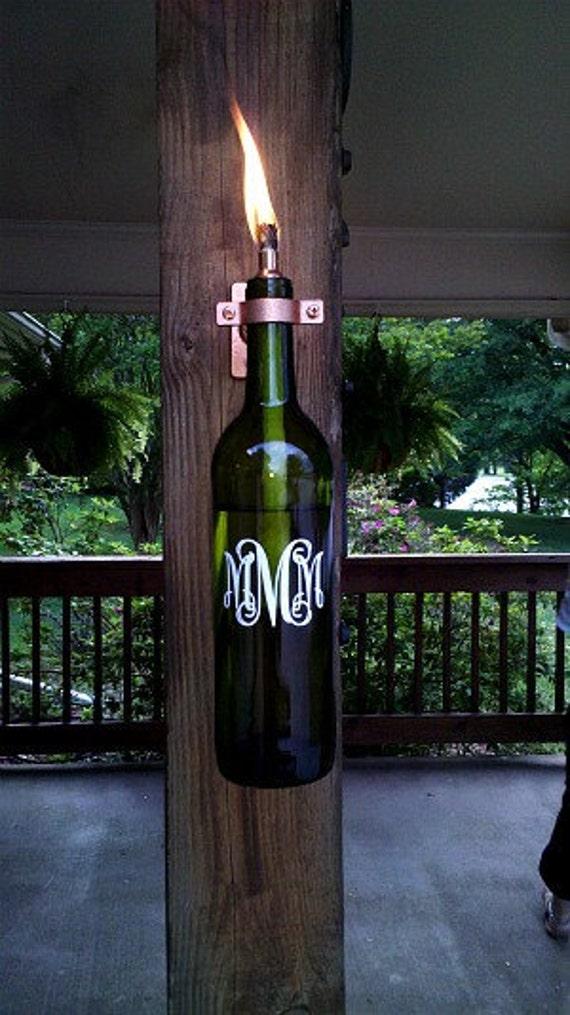 Monogrammed Wine Lantern