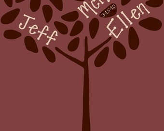 Custom Family Tree Vinyl Wall Decal