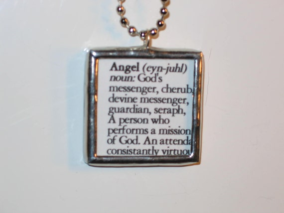Angel Definition Stained Glass Pendant Necklace Jewelry