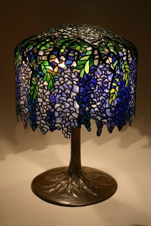 Items Similar To Tiffany Wisteria Lamp Reproduction On Etsy