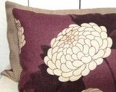 Osborne and Little Wilde Chrysanthemum Plum Accent Pillow Cover - Designer Fabric - 12 x 20