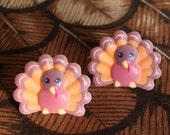 Gobble Gobble Cute Pilgrim Thanksgiving Turkey Earrings FREE SHIPPING USA