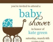 Animal Print Baby Shower Invitation - Digital File