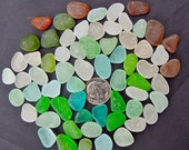 Sea Glass Beach Glass of HAWAII'S Beaches 65 FROSTY FLAWLESS Size for jewelry