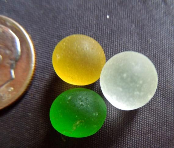 Sea Glass or Beach Glass of HAWAII Tiny GOLD sea glass BALLS