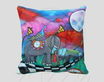 The End Of Innocence Throw Pillow