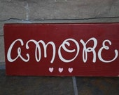 AMORE love valentines day sign decoration gift home decor red ready to ship