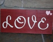 LOVE sign valentines day decoration red gift home decor ready to ship