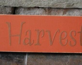 Harvest sign fall home decor orange