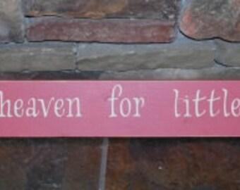 thank heaven for little girls rustic baby room sign shower gift birthday gift