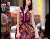 Jaqueline Dress- Zip front floral dress