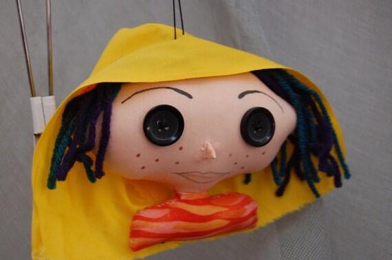 Coraline inspired Ornament Handmade Decoration rag doll