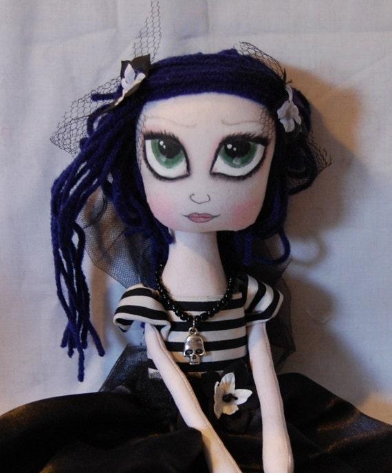 Maureen, Goth Cloth Art Rag Doll