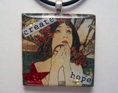 Create Hope tile pendant