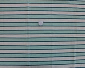 """ON HOLD""""""""""""""""""""""""""""""""""""Green and White Stripe Feedsack Fabric"""