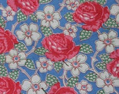 Huge Piece of Gorgeous Floral Cotton Yardage M