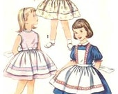 50s Vintage Simplicity 1938 Darling Dress Pattern With Options Toddler 4