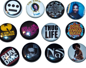 "HipHop 1"" pins. Choose your favorite ONES"