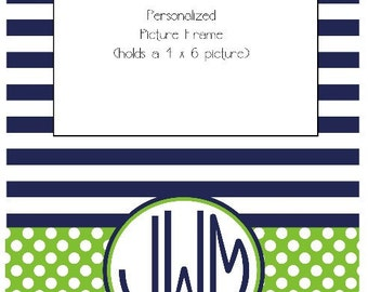 Personalized Striped Picture Frame