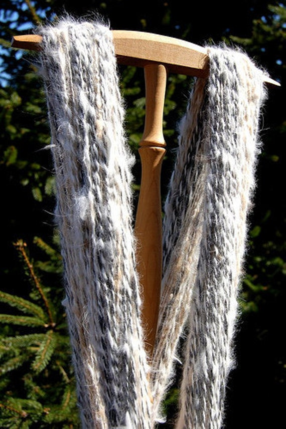 Homegrown and Handspun Pure Angora Yarn - Double Skein - 217 yds/ 199m - 97 gm
