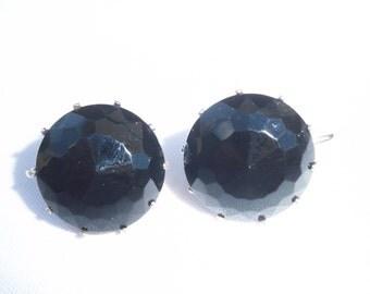 Beautiful Black Stoned Vintage Earrings