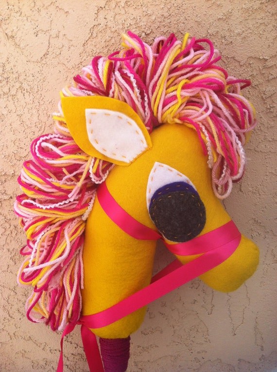 Love and Hearts Horse, Inspired by My Little Pony, hobby horse, stick pony, horse puppet
