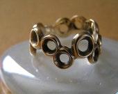 Vintage Designer 9K Yellow Gold Ring