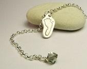 Your Baby's Footprint Charm Bracelet