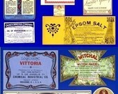22 Antique Providence & Tiverton Rhode Island Drug Store Apothecary Medicine Bottle Labels