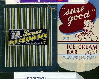 4 - Popsicle - Sure Good - Swans - Dannheim - Ice Cream Bar Wrappers