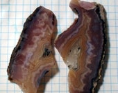 Aztec Lace agate slab pair