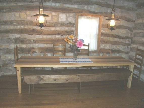 Items similar to 1800 39 s style dining room table on etsy for Dining room tables etsy