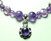 Purple Amethyst Necklace with Sterling
