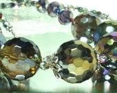 Mystic Quartz Necklace Sparkly Disco Ball Faceted Quartz Bead Necklace