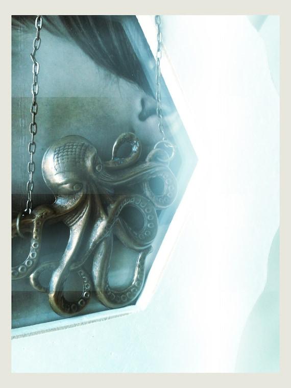 male octopus A romantic brass octopus necklace