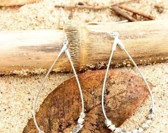Anjou Silver Teardrop Earrings