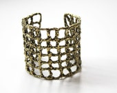Metal Crochet Cuff  - A  Collaborative Art Piece by Cheryl Cambras and Tiny Armour