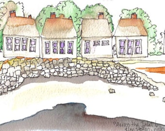 Painting - Llansteffan, South Wales