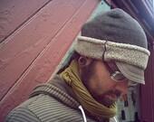 fleece winter hat with brim (unisex)