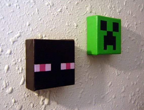 3D Minecraft Inspired Mob Painting Duo