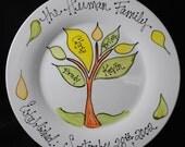 Custom Family Tree Gift - Anniversary gift Adoption gift Plate
