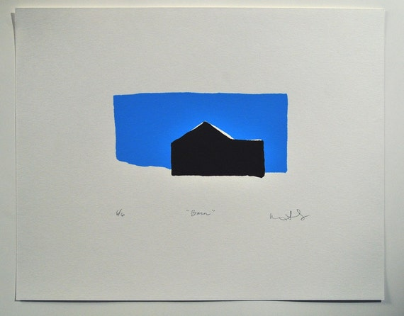 Barn - A Limited Edition Hand Pulled Screen Print No. 6 of 6