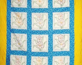 HAND  EMBROIDERED LILIES