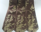 Custom wedding neckties - 3 matching groomsmen SILK neckties - package discount - custom orders possible on request
