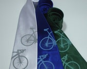 Bicyclette Necktie - bicycle microfiber tie in three color choices