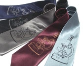 Microscope Tie - Screen Printed Tie - Premium Quality Microfiber Tie - Gift Wrapped - Choose color and quantity